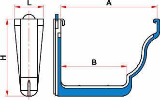 Aquapluv Style PVC Support | Tigre