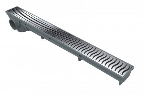 Linear Drain 50 CM – Chrome Grate