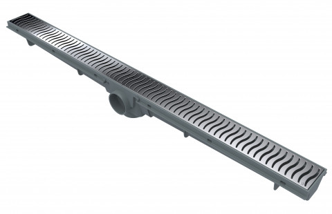 Linear Drain 70 CM – Chrome Grate