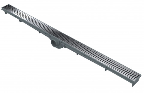 Linear Drain 90 CM – Chrome Grate