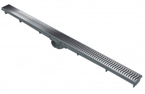 Ralo Linear 90cm - Grelha Cromada