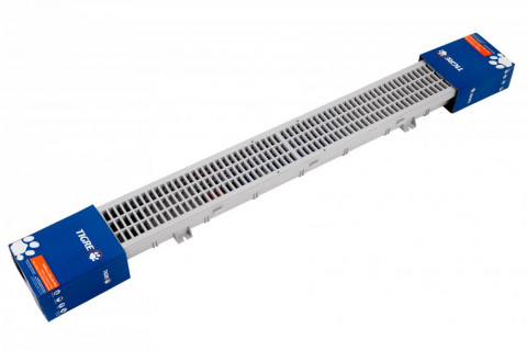 Floor and Rail Set DN100 Gray Pedestrian
