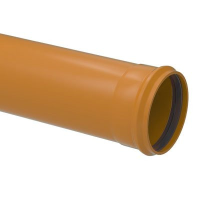 SMOOTH SURFACE DRAIN AND SEWER PIPE WITH INTEGRAL GASKET JOINTS