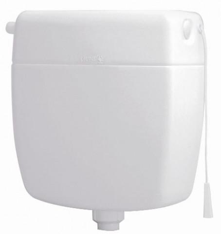 Flush toilet tank with coupling