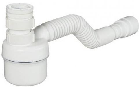 Sifón Ajustable Multiuso Vaso Blanco