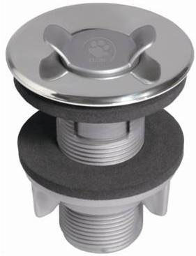 """Washbasin Inox valve with and without Overflow 7/8"""""""