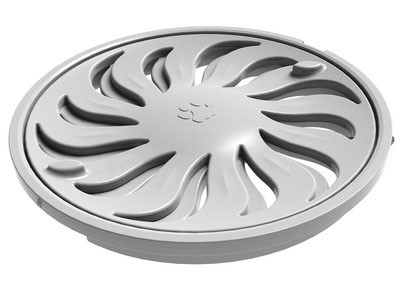 White Circle Open and Close Grill
