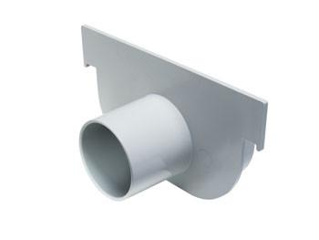 Cabecera p/ Canalón de Piso Reforzado DN 130 x 75 c/ Salida Opcional