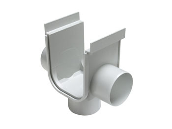 Opening for Reinforced Floor Gutter DN 130 x 148 with Lower Outlet and 2 Side Outlets