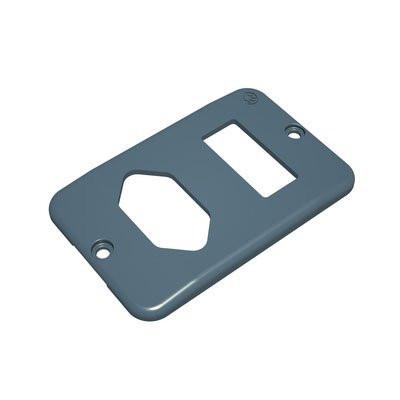 Tapa para 1 Enxufe e 1 Interruptor Condulete Top®