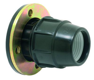 Adaptador Compressão com Flange (com flange metálico)