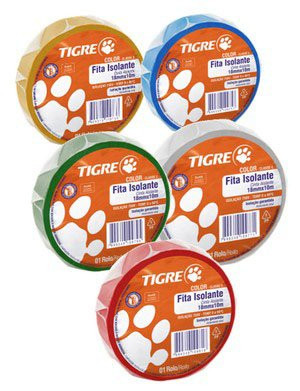 Fita Isolante Tigre Color - 10m