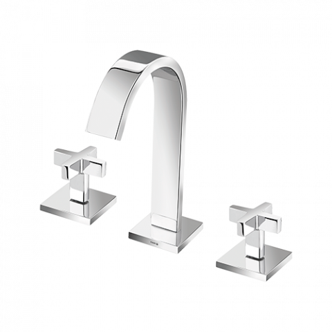 Goa Cross Washbasin Mixer With High Spout Worktop