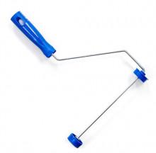 Suporte para Rolo - Ref. 1302 - Componente: Aço Galvanizado - Cabo/Terminais: Plástico Azul