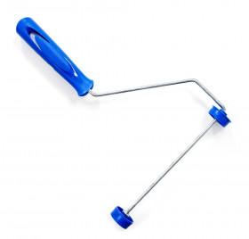 Suporte para Rolo - Ref. 1301 - Componente: Aço Galvanizado - Cabo/Terminais: Plástico Azul