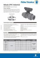 Válvula CPVC Industrial