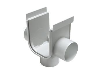 Bocal p/ Canalón de Piso Reforzado DN 130 x 148 c/ Salida Inferior y 2 Laterales