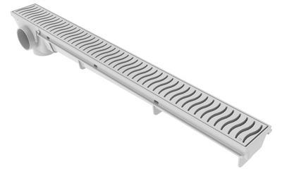 Ralo Linear 50cm - Rejilla Blanca