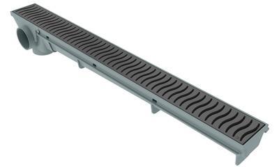 Ralo Lineal 50cm - Rejilla Gris