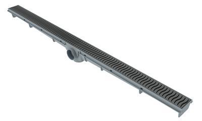 Ralo Lineal 90cm - Rejilla Gris
