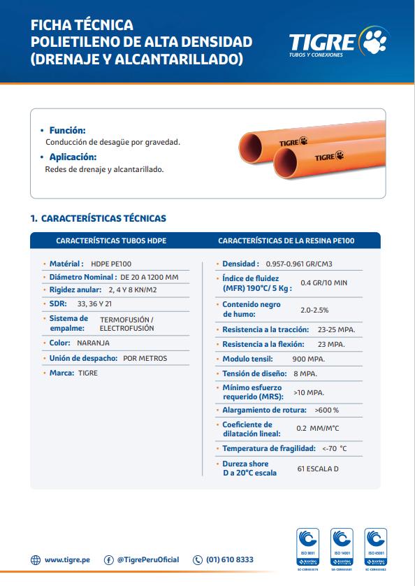 Ficha técnica Polietileno de Alta Densidad